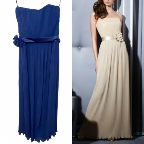 Dessy Collection Fortuny Pleated Long Bridesmaid D