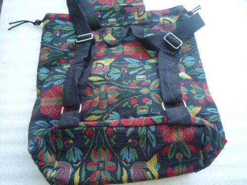 Rucksack Damenrucksack leicht Schule Vintage Hippie Retro Boho Baumwolle gewebt