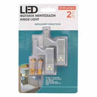 20x LED Smart Sensor Light Kitchen Cabinet Cupboard Closet Wardrobe Hinge Lights