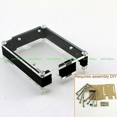 Clear Acrylic Box Case Enclosure Transparent For Arduino UNO R3 Black NEW