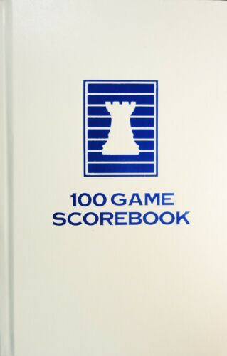 White 100 Games Made in USA Hardcover Chess Scorebook