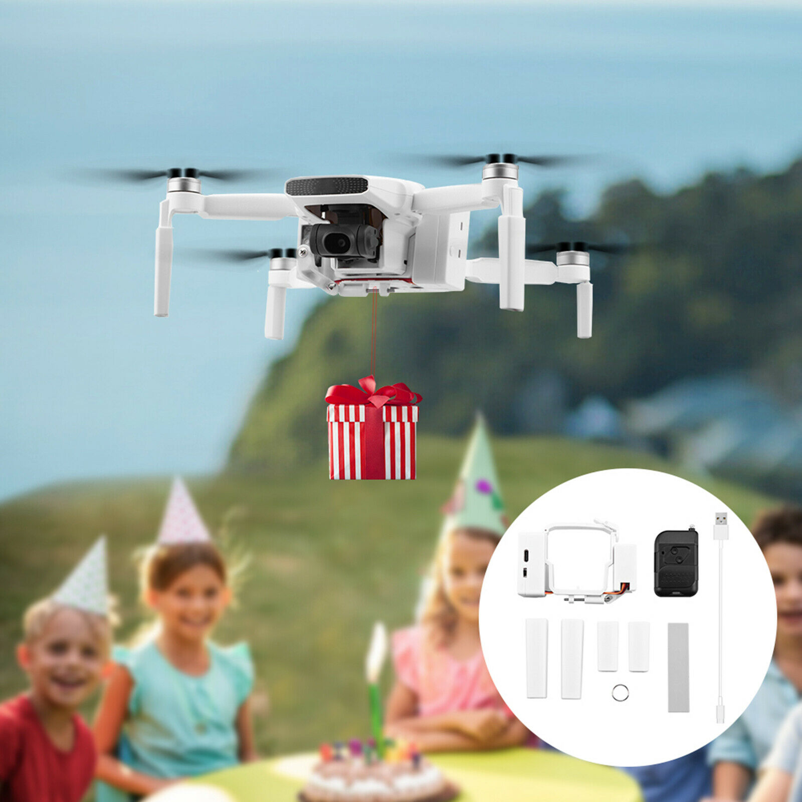 Wedding Air-Dropping Thrower Delivery Kit Fit For FIMI X8 MINI Drone Accessories