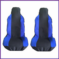 MITSUBISHI OUTLANDER 07-12 FRONT SEAT COVERS RACING BLUE PANEL 1+1