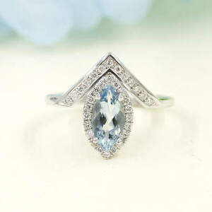 Marquise-Natural-AAA-Aquamarine-Diamond-Chevron-14K-White-Gold-Wedding-Ring
