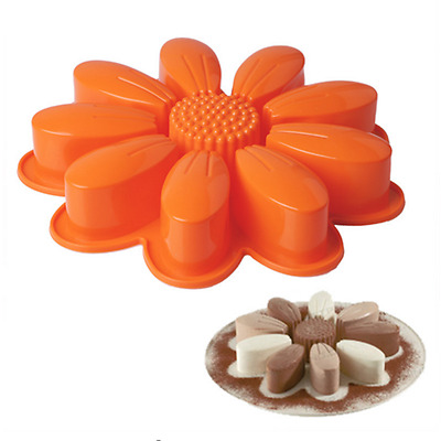 Big Flower Silicone Cake Mold Pan Muffin Chocolate Pizza Pastry Baking Tray Mold