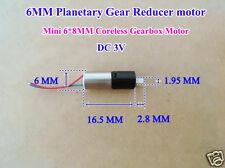 DC 3V Mini Micro Planetary Gearbox Gear Reducer Motor 6mm Coreless Getriebemotor