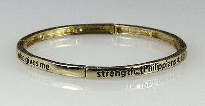 4030557 Petite Philippians 4:13 Christian Stretch Bracelet Jesus Religious Ch...