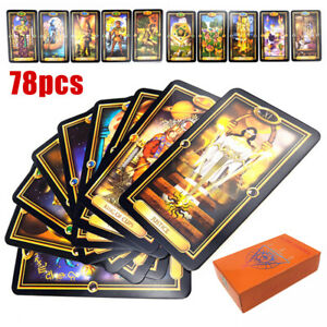 78pcs-Tarot-Deck-Cards-Guidance-of-Fate-Playing-Game-Card