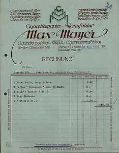 berlin o 27 rechnung 1921 zigaretten papier manufaktur max mayer. Black Bedroom Furniture Sets. Home Design Ideas