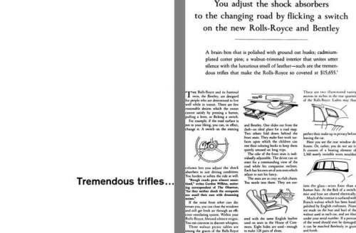 Tremendous Trifles … Silver Cloud II Rolls Royce 1961