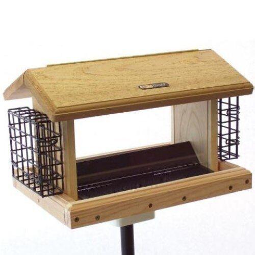 Birds opción 5 Qt. Tolva de 2 lados con suets Pájaro Feeder WC2-200S-S