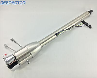 "Tilt Automatic 30/"" No Key Steering Column Shift Indicator w 9 Hole Wheel Adapter"