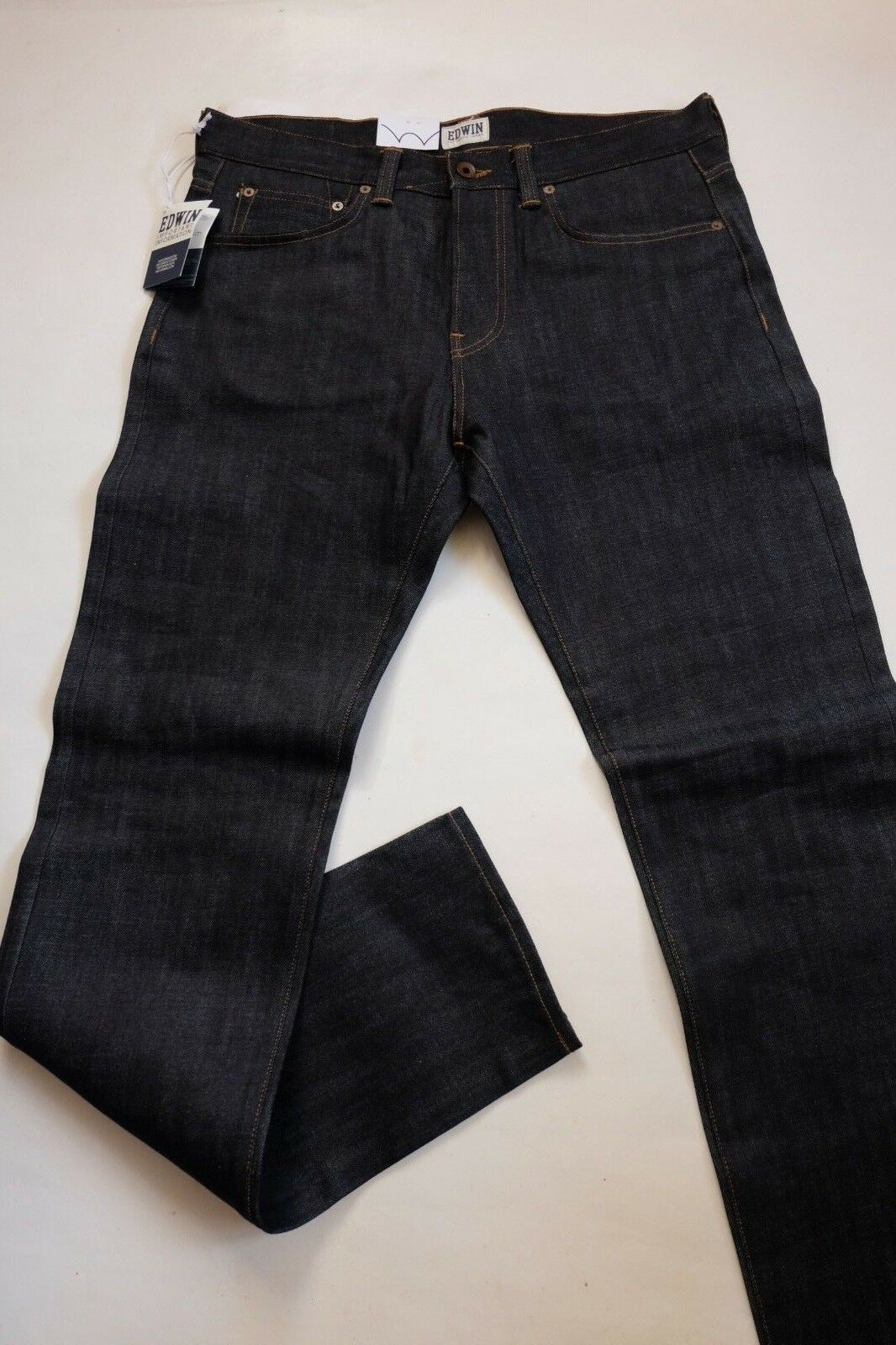 JEANS EDWIN HOMME ED 80 SLIM TAPERED (white listed-unwashed)   W30 L34  VAL