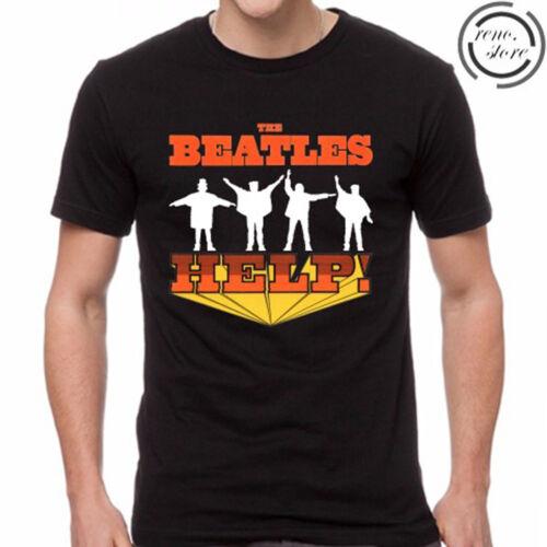 The Beatles Help Rock Band Legend Men/'s Black T-Shirt Size S M L XL 2XL 3XL