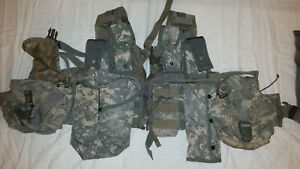 LIGHTWEIGHT-MOLLE-II-ACU-FLC-ADJUSTABLE-FIGHTING-LOAD-CARRIER-W-POUCHES-JJ-1018