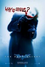 DARK KNIGHT - 2008 - Original D/S 27x40 Movie Poster - WHY SO SERIOUS? style