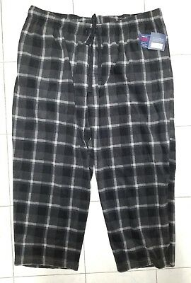 4xl Nwt *super Soft* An Enriches And Nutrient For The Liver And Kidney Just Mens Croft & Barrow Black/gray Plaid Fleece Lounge Pants