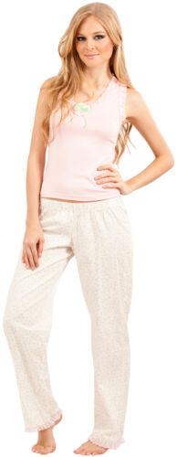 Adriana Arango Women/'s Pajama Set Trendy Racerback Top Patterned Pants #7533