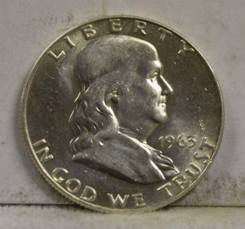 """1963-D Franklin Half Dollar /""""Gem BU/"""" *Free S//H After 1st Item*"""