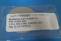 Mcmaster Carr 10453-050 1.5 X 062 X 5m, 316lss, N/c