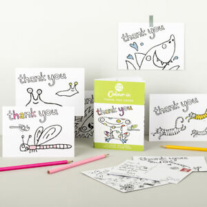 EggNogg Colour In Thank You Cards / Postcards
