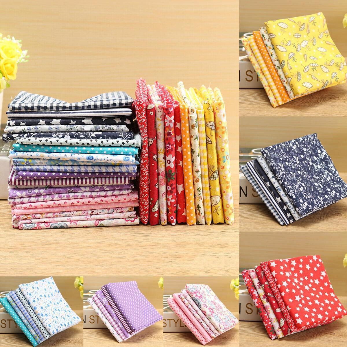 5Pcs 50x50cm Coton Tissu Patchwork Floral Coupons Assorti Joli Couture DIY 4