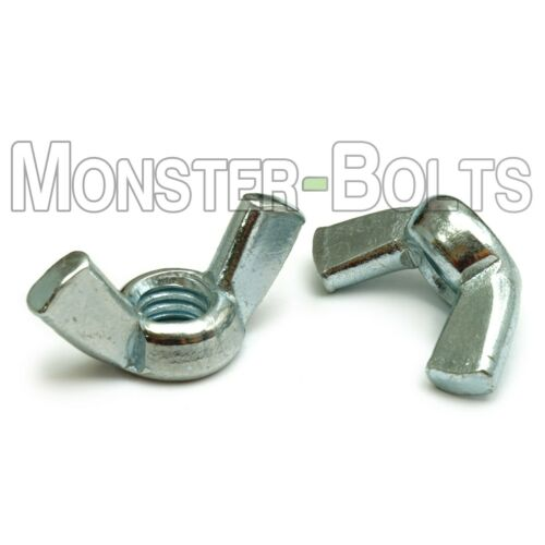 """Cold Forged Zinc Plated Steel 1//4/""""-20 Wing Nuts RoHS Compliant CR+3 Type A"""
