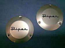 Piper J3 Cub Style Steel Pair of Goodrich Style Hub Caps Exact Replica Nice!