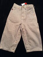 Toddler Tommy Hilfinger Blue/white Striped Painters Pants Size 12-18 Months