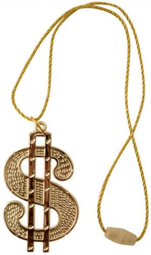 Dollaro Medallion COLLANA Bling/'70 Protettore RAPPER ALI G RAPPER CHAV FANCY DRESS