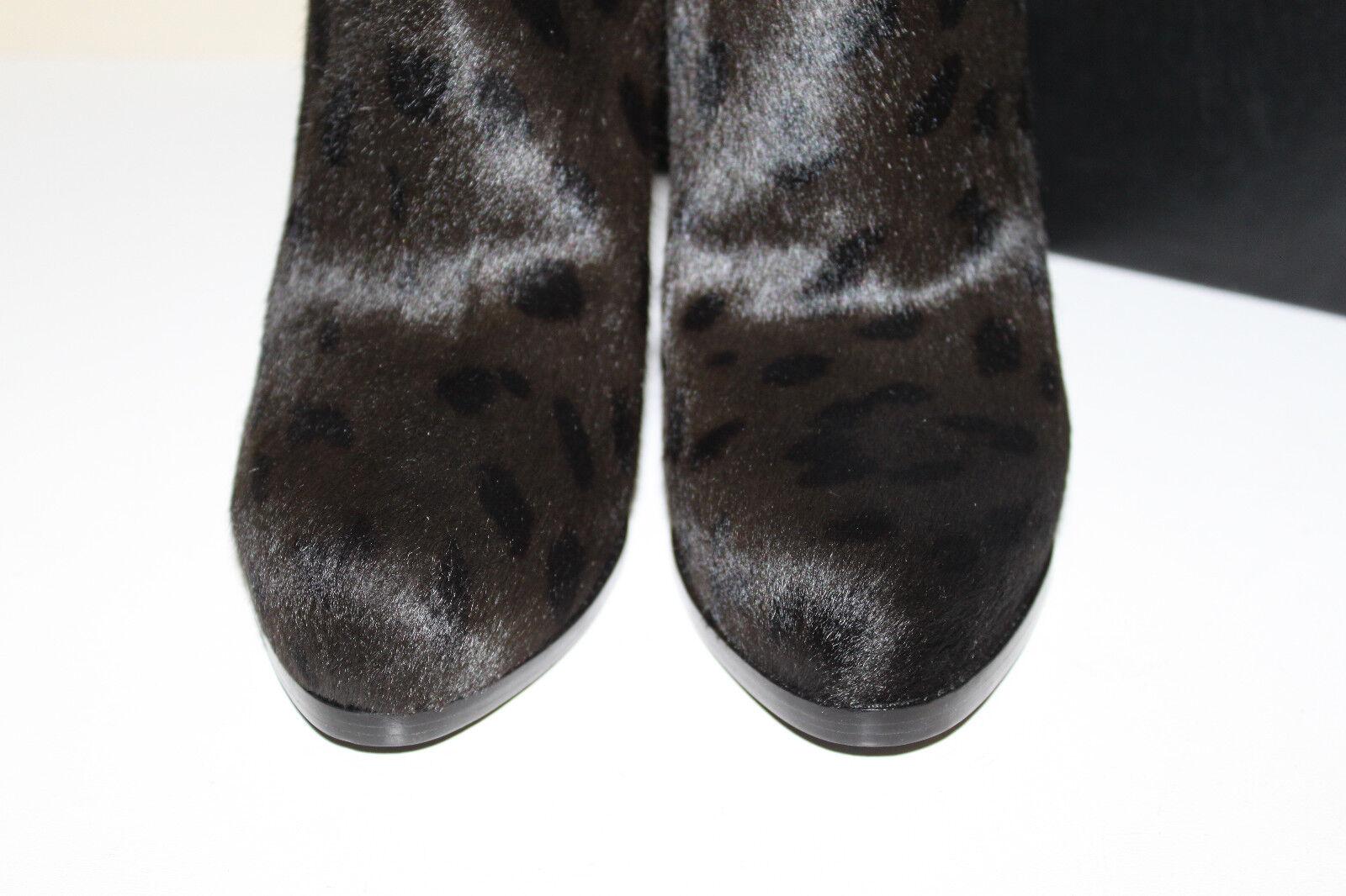 New Alexander Wang Leopard Pony Hair schuhes Platform Aymeline High Boot schuhes Hair sz 9 / 39 4c3a0f