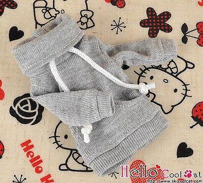 ☆╮Cool Cat╭☆ 268.【NH-A05】Blythe Pullip Lovely Clothe Pocket Top # Pale Grey