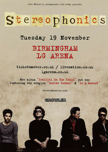 Details about STEREOPHONICS - 2013 TOUR FLYER - GENUINE RARE LIVE CONCERT  MUSIC PROMO
