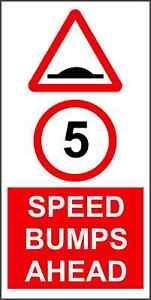 Sticker-Decal-Speed-bumps-ahead-Road-hump-RA2-600mm-x-300mm-KP954