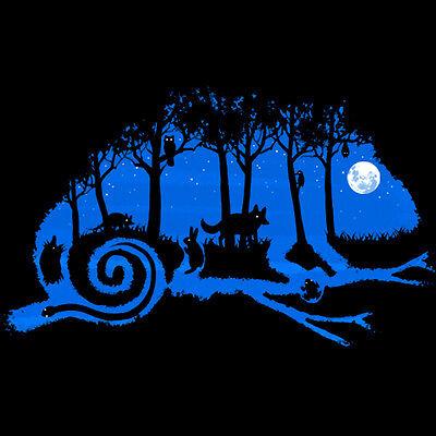 Chameleon DARK NIGHT Forest FULL MOON Men's T-SHIRT frog animal novelty tee S-XL