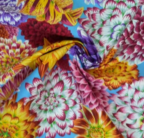 1//2 yard Kaffe Fassett Dancing DAHLIAS-Multi-Coton quilting tissus