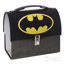 NUOVO DC Comics Batman Logo Tote a cupola di Latta Scatola Pranzo Scuola Ufficiale