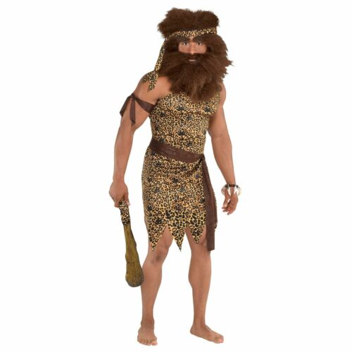 Caveman Costume for Men Fancy Dress Costume Outfit Book Week Carnival Stag Do