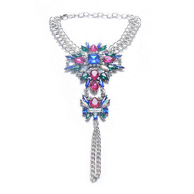 1 PCS Superb Exotic Romantic Multi Color Crystal Bridal Foot Jewelry Anklet Hot