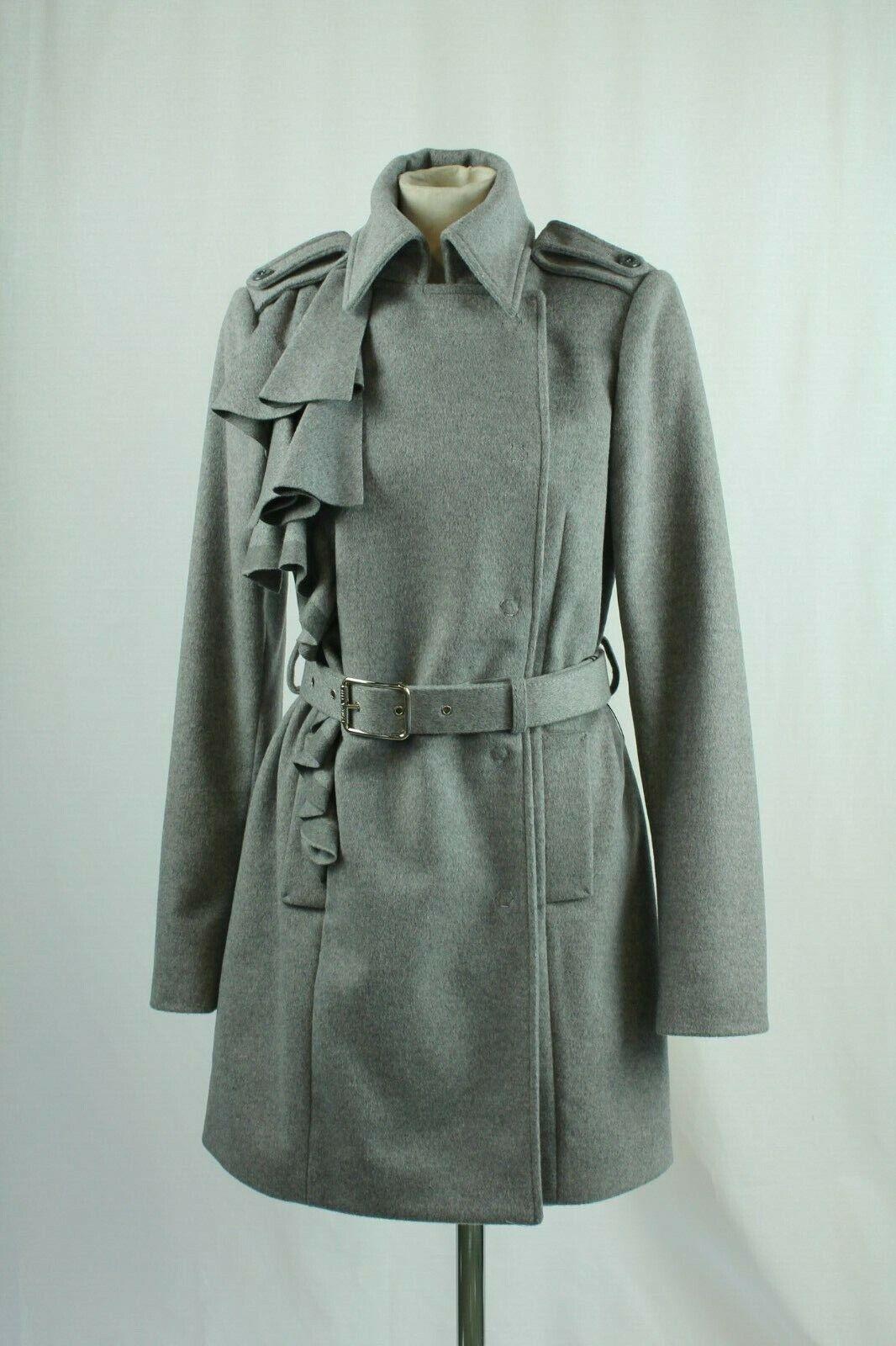 Patrizia Pepe Firenze Grey Cashmere Blend coat, Size UK14 EU42