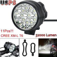 32000LM Bicycle Lamp 11x CREE T6 LED 3 Modes Bike Front Head Light Cycling Torch