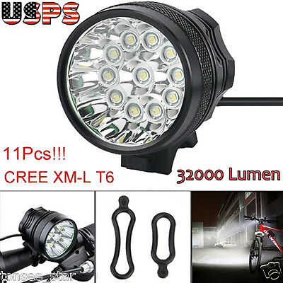 32000LM Bicycle Lamp 11x  T6 LED 3 Modes Bike Front Head Light Cycling Torch