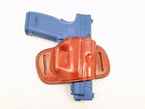 OWB Quick Slide Leather Belt Holster for Beretta 92FS MyHolster
