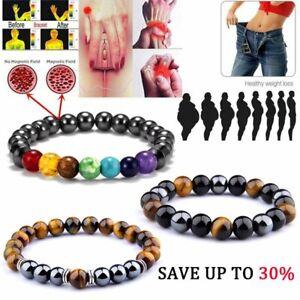 Lots-Healing-Bracelet-Hematite-Bead-Bangle-Arthritis-Pain-Relief-Weight-Loss-Hot
