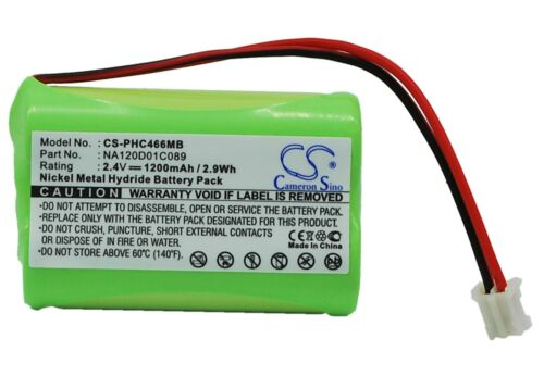 UK batterie pour Philips sbc-s484 310412893522 na120d01c089 2.4 V rohs