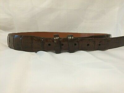 Hand made Alligator belts 1 and 1//8 inches