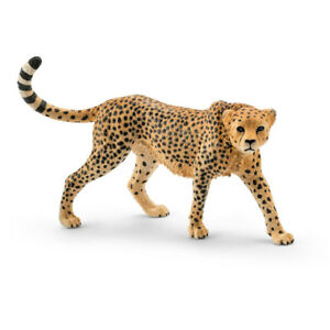 Schleich 14746 Female Cheetah Toy for Ages 3 & Up, Plastic, Tan