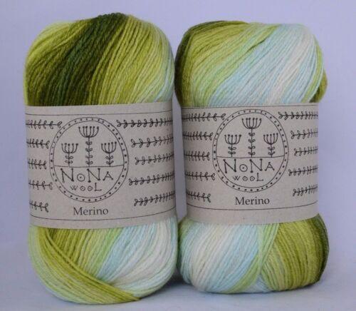 Farbverlaufsgarn NoNA WooL Merino Spectra Coast 40/% Merinowolle 400 m 100 g