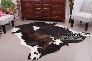Dark Brindle Rodeo Cowhide Rug Size Approx Xl 6x7 Ft Ebay