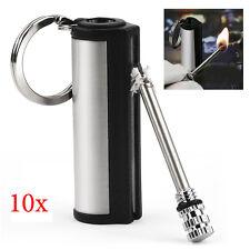 10pcs 15000 Times Metal Cigar Cigarette Key Ring Ignite Flame Match Box Lighter